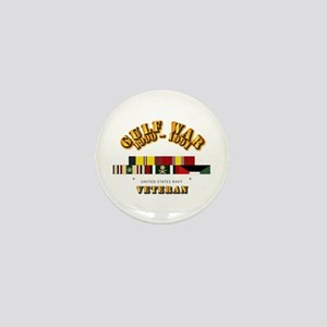 Navy - Gulf War 1990 - 1991 w Svc Ribb Mini Button