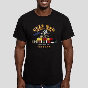 Navy - Gulf War 1990 Men's Fitted T-Shirt (dar