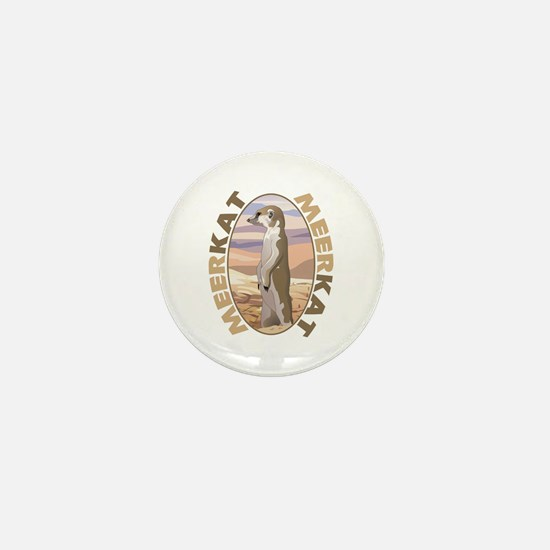 Meerkat Mini Button