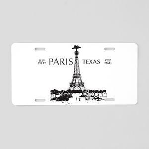 Paris, Texas Aluminum License Plate