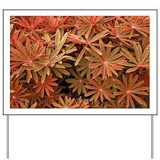 Orange Flower Pattern Yard Sign