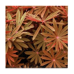 Orange Flower Pattern Tile Coaster