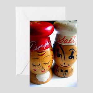 Vintage Salt & Pepper Shakers Greeting Card