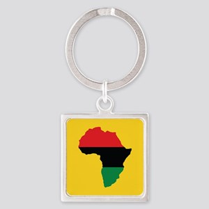 Red, Black and Green Africa Flag Keychains