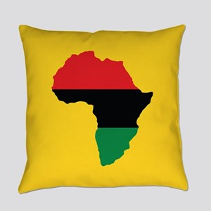 Red, Black and Green Africa Flag Everyday Pillow