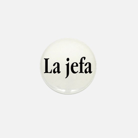 La jefa Mini Button