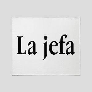 La Jefa Throw Blanket