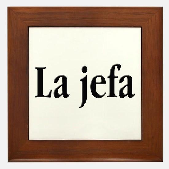 La jefa Framed Tile