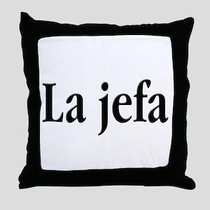 La jefa Throw Pillow