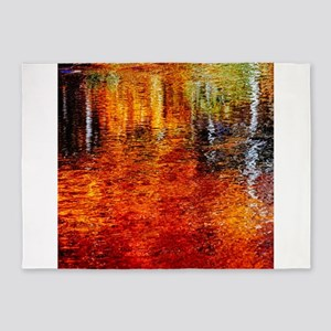 Color on water 5'x7'Area Rug