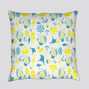 Bahamas Pattern Everyday Pillow