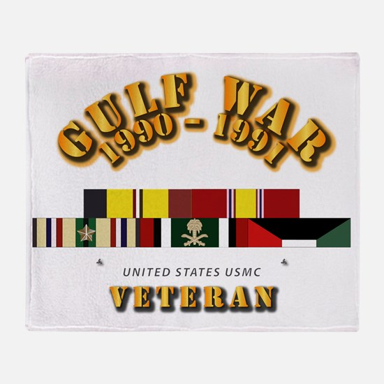 Navy - Gulf War 1990 - 1991 W - Car Throw Blanket