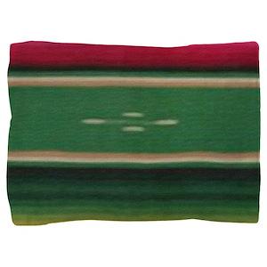 Vintage Green Mexican Serape Pillow Sham