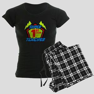 Super First Grade Teacher Women's Dark Pajamas
