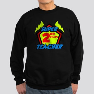 Super Second Grade Teacher Sweatshirt (dark)