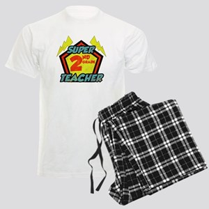 Super Second Grade Teacher Men's Light Pajamas