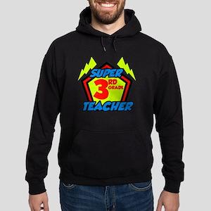 Super Third Grade Teacher Hoodie (dark)