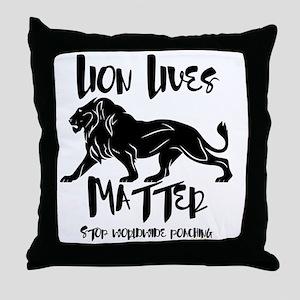 Lion Lives Matter Stop Worldwide Poac Throw Pillow