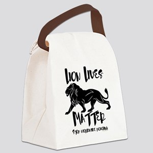 Lion Lives Matter Stop Worldwide  Canvas Lunch Bag