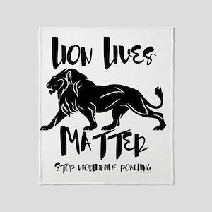 Lion Lives Matter Stop Worldwide Poa Throw Blanket