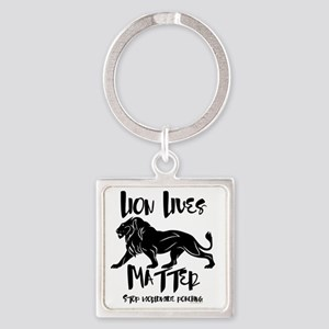 Lion Lives Matter Stop Worldwide P Square Keychain