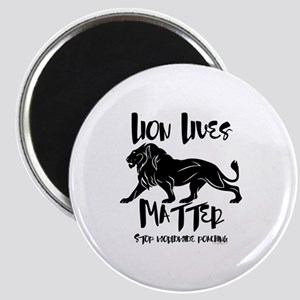 Lion Lives Matter Stop Worldwide Poaching Magnet