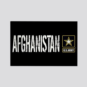 U.S. Army: Afghanistan (Black) Rectangle Magnet