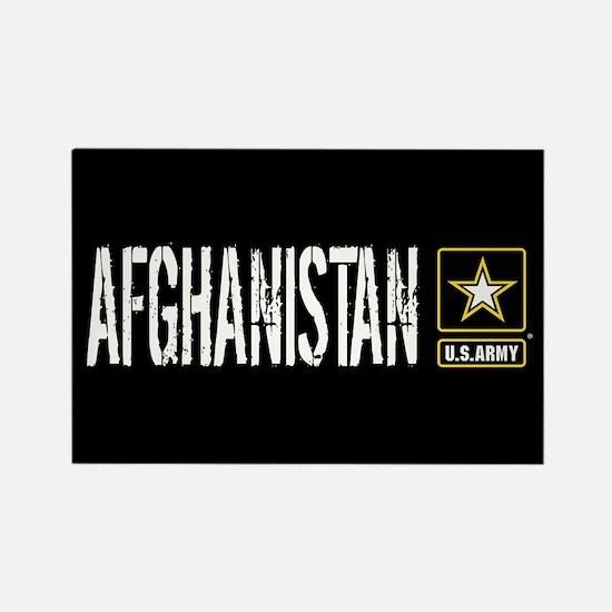 U.S. Army: Afghanistan (Black) Rectangle Magnet
