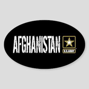U.S. Army: Afghanistan (Black) Sticker (Oval)