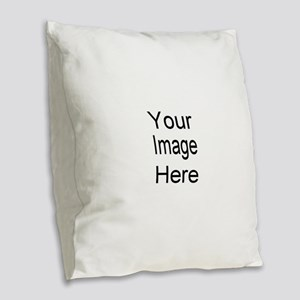 Add your own picture Burlap Throw Pillow