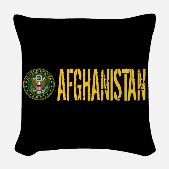 U.S. Army: Afghanistan Woven Throw Pillow
