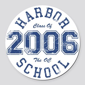 Harbor Class Of 2006 The OC Round Car Magnet