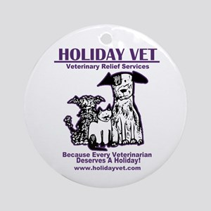 Holiday Vet Services Round Ornament
