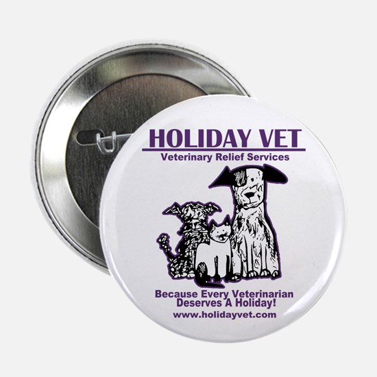 "Holiday Vet Services 2.25"" Button (10 Pack)"