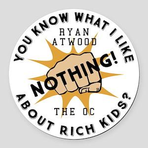 Ryan Rich Kids The OC Round Car Magnet