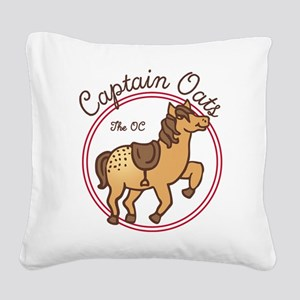 Cute Captain Oats The OC Square Canvas Pillow