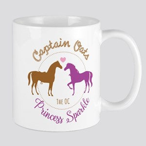 Captain Oats Princess Sparkle The OC Mugs