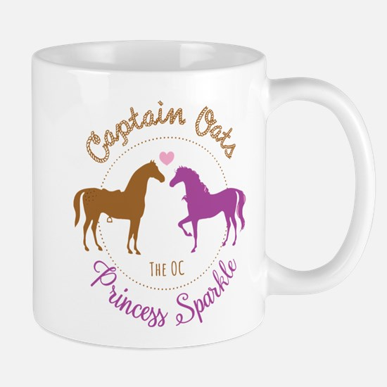 Captain Oats Princess Sparkle The OC Mugs