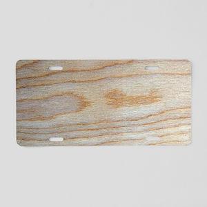 Chic Wood Grain Unique Wins Aluminum License Plate