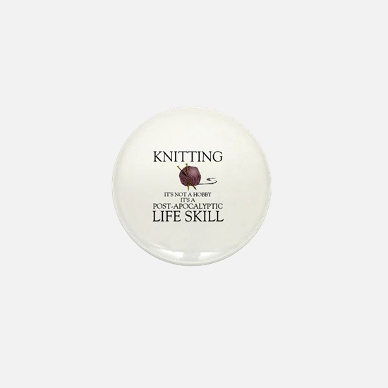 Knitting not a hobby it's a life  Mini Button