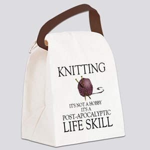 Knitting not a hobby it's a life  Canvas Lunch Bag