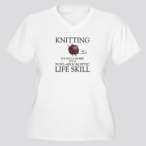 Knitting not a hobby it's a life Plus Size T-Shirt
