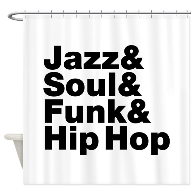 Jazz Soul Funk Hip Hop Shower Curtain By Forgottentongues