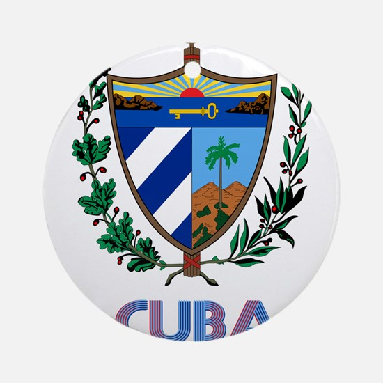 Coat of Arms CUBA Round Ornament