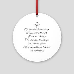 Serenity Prayer Round Ornament