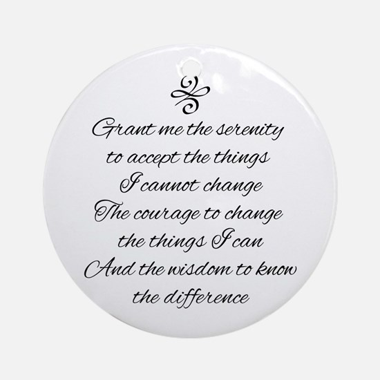Serenity Prayer Round Ornament