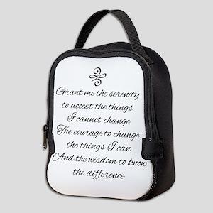 Serenity Prayer Neoprene Lunch Bag