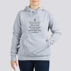 Serenity Prayer Women's Hooded Sweatshirt