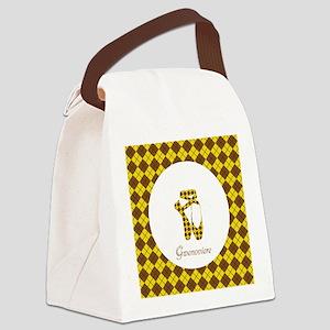 Team Pointe Ballet Argyle Monogra Canvas Lunch Bag