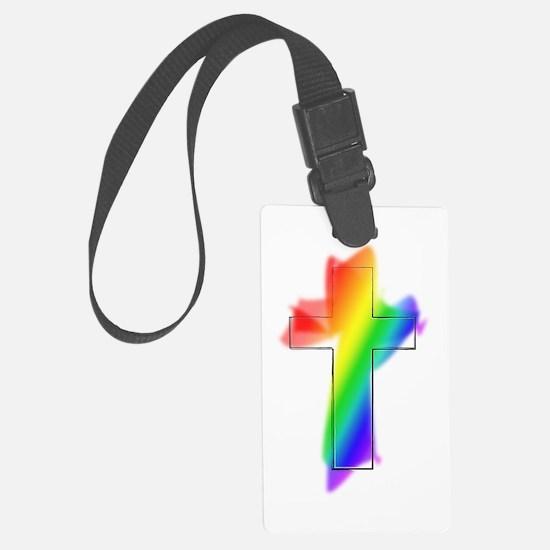 rainbow cross.png Luggage Tag